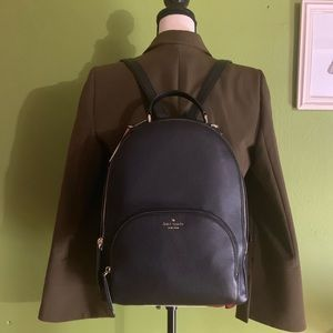 kate spade Bags - 🎄NWT KATE SPADE Large Black Leather Backpack